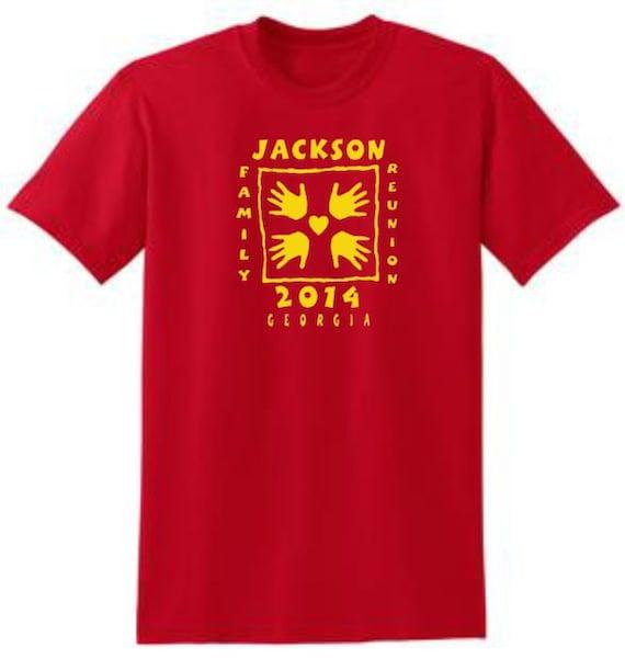10 Etsy Reunión De Diseño Manos Redondo Cuello Familiar Camisetas nZrB68wUn