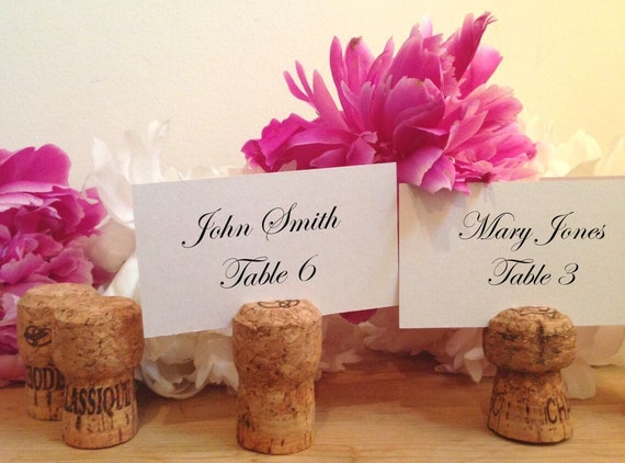 50 Handmade Champagne Cork Place Card Holders For Wedding Party Wine Event