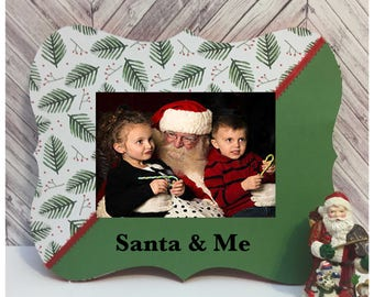 santa and me christmas frame christmas decorations custom picture frame christmas frame gift for kid christmas 2017 christmas gift