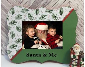 santa and me christmas frame christmas decorations custom picture frame christmas frame gift for kid christmas 2017 christmas gift