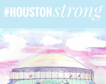 Houston Astrodome Digital Print by Genie Mack