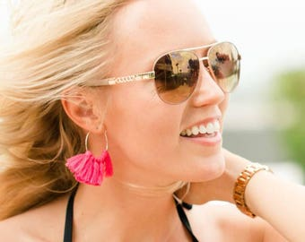 Hoop Fringe Earrings by Genie Mack ON SALE!