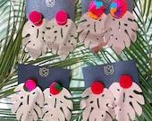 Monstera Leaf Earrings by...