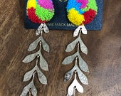 Pom Branch Statement Earrings by Genie Mack