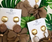 The TAN Flower Power Earrings by Genie Mack