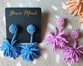Genie Mack Collection: Little Beaded Starburst Drop Earrings