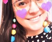 Colored Ball Earrings...