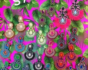 Genie Mack Collection: Summer Soutache Earrings