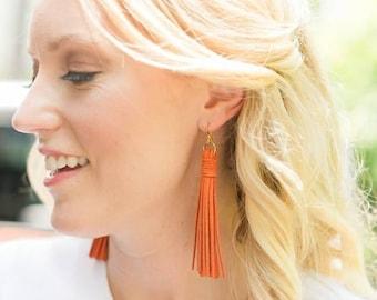 Tassel Earrings by Genie Mack / College Game Day