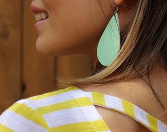 Genie Mack Collection: Faux Leather Cutout Teardrop Earrings