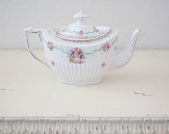 Antique Floral Teapot