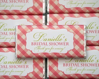 Bridal Shower, Kitchen Tea personalised chocolate bar 40g bomboniere Christening, baptism party favour *** Minimum order of 20***