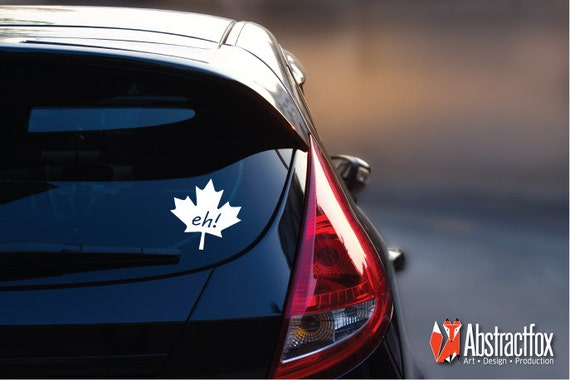 Canadian eh car decal maple leaf car sticker car vinyl