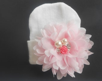 Newborn hospital hat, Baby hat,  newborn girl hat, infant girl hat, hospital newborn hat, newborn hat, infant hat, baby hat, baby bow
