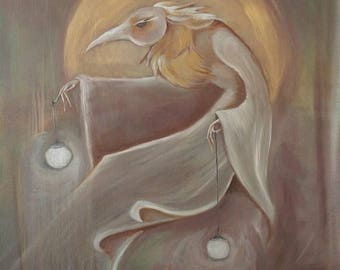Silver and Gold. Original oil  on canvas painting by Jesse Wamboldt