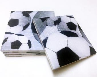 Soccer Coasters - Soccer Decor - Soccer Decorations - Drink Coasters - Tile Coasters - Ceramic Coasters - Table Coasters On Sale