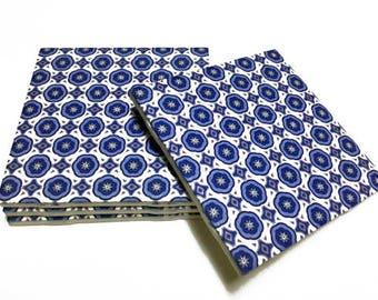 Blue Coasters - Home Decor - Blue Home Decor - Drink Coasters - Tile Coasters - Ceramic Coasters - Table Coasters On Sale