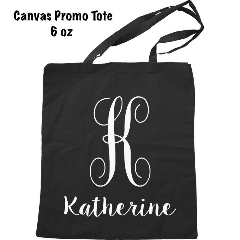 Monogrammed Tote Initial Tote Bag Personalized Bag Monogrammed Bag Custom Name Tote Bag Personalized Tote Bag Custom Bag