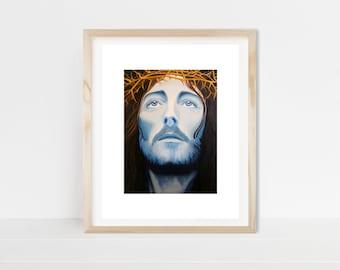 Jesus, painting, Jesus Christ, Jesus lovers gift, Christian, Christian gift, Christian wall art, wall art, Jesus painting, original painting