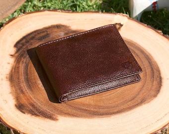 Handcrafted Bifold Wallet - Billfold Wallet - Men's Wallet - Anniversary Gift - Cowhide Wallet -Vintage Style Wallet -Chocolate Dark Wallet