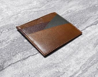 Mens Leather Wallet, Multicolor, Card holder, Business card holder, Slim wallet, Womens wallet, Handmade, Gifts for men