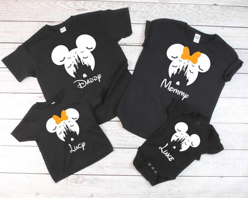 Disney Halloween Shirts Etsy.Castle With Bats Disney Halloween Family Matching Shirts Disney Halloween Shirts Family Vacation Shirts Mnsshp Shirt Family Shirts