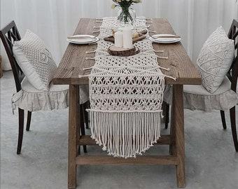 Macrame Table Runner Etsy - Custom dining room table runners