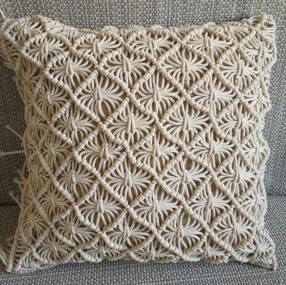 TARI Bohemian Macrame Cushion Pillow Cover set of 2,4,6