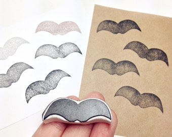 Mustache rubber stamp, handmade stamp, beard stamp. For cards, craft, printing, diy birthday, presents, gift wrapping.