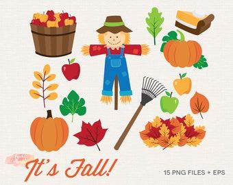 fall clip art etsy