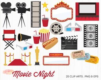 BUY 2 GET 1 FREE Movie Night Clipart