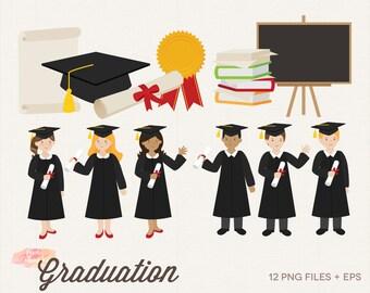 graduation clip art etsy