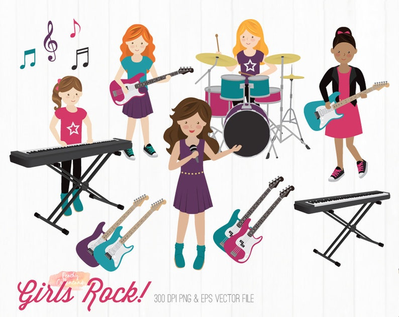girl rock star clip art