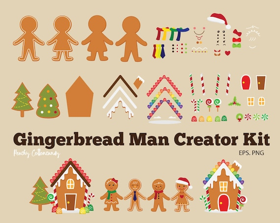 BUY 2 GET 1 FREE Gingerbread Man Clipart