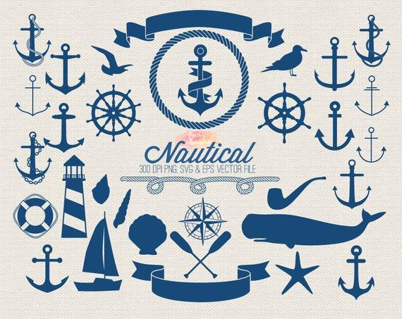 buy 2 get 1 free nautical clipart anchor clip art nautical etsy rh etsy com free nautical clip art borders free nautical clip art images
