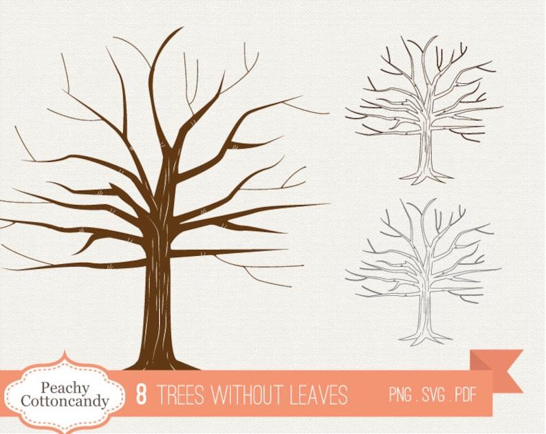Buy 2 Get 1 Free Bare Tree Clipart Trees Clip Art Etsy