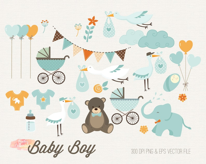 Buy 2 Get 1 Free Baby Boy Clipart Baby Shower Clipart Birth Announcement Clip Art Baby Clipart Baby Shower Clip Art Baby Clip Art