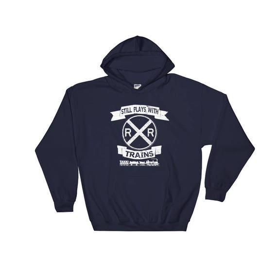 Model Train Sweater | Still Plays with Trains | Train Gift | Gifts for  Model Train Collectors | Model Trains | Hoodie, Hooded Sweatshirt