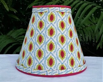 Tropical Clip On Lampshade, Blue, Green, Pink Lamp Shade