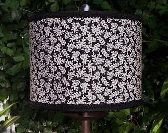 Lamp Shade Black and White Drum Lampshade