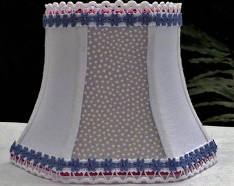 Lavender Lampshade, Hex Bell Clip On Lamp Shade