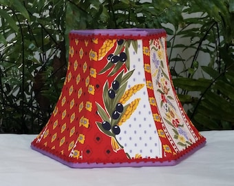 French Country Lampshade,  Red  Lamp Shade