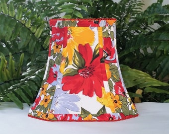 Bright Floral Square Lampshade