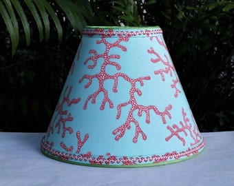 Blue Red Beach Lampshade, Lilly Pulitzer Fabric