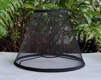 Wire Mesh Lampshade, Phenolic, Black Lamp Shade