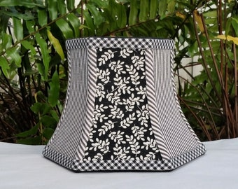 Lamp Shade Small  Black and White Bell Lampshade