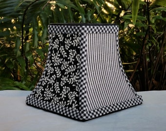 Small Black and White Table Lampshade