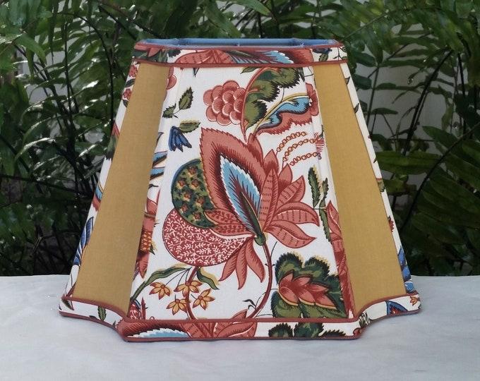 Featured listing image: Pierre Deux  Tamarind Fabric Lampshade, Medium Rectangle