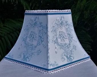 Toile Lamp Shade, Robins Egg Blue Lampshade