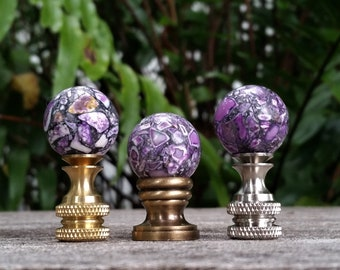 Small Purple Lamp Finial